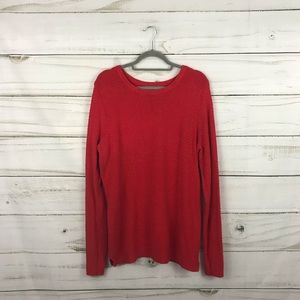 Old Navy Red Knit Crew Neck Sweater Size XL